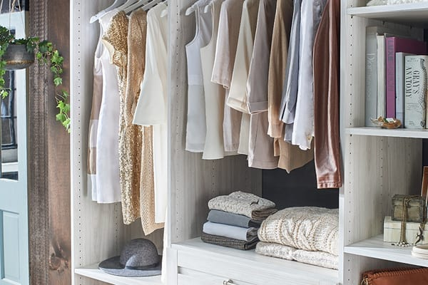 Washed White Farmhouse Closet